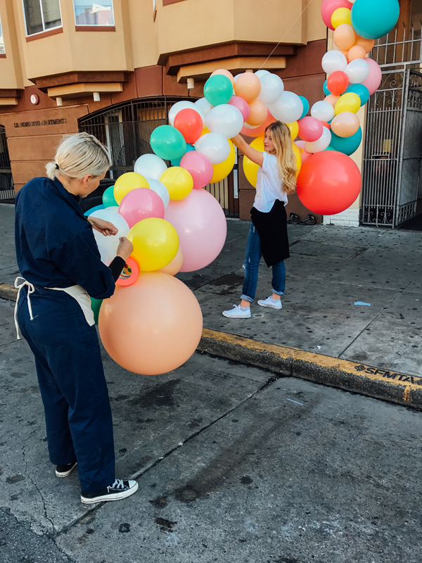 Geronimo Balloons + OHD Birthday Balloon Installation | Oh Happy Day!