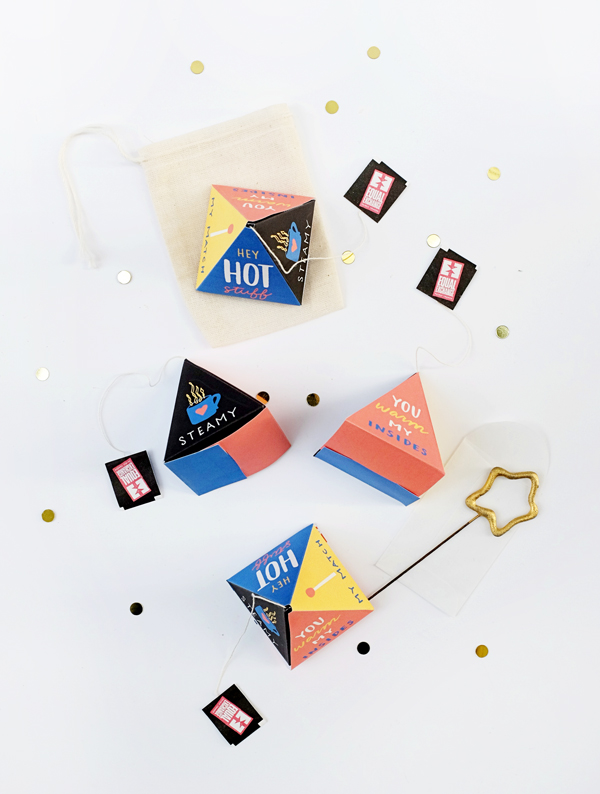 Printable Hot Tea Pyramids | Oh Happy Day!