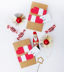 Printable Holiday Hug Bags | Oh Happy Day!