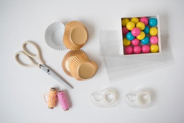 Gum Ball Ice Cream Cone Favors DIY | Oh Happy Day!