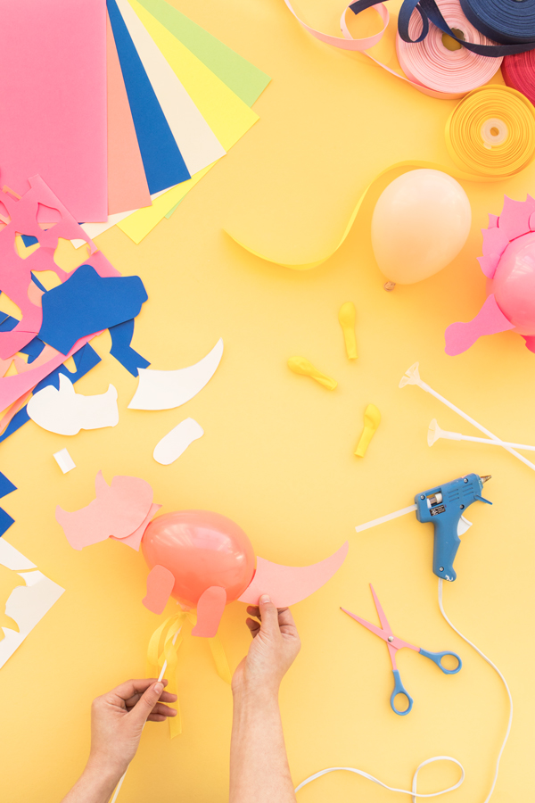 Mini Dinosaur Balloon Sticks | Oh Happy Day!