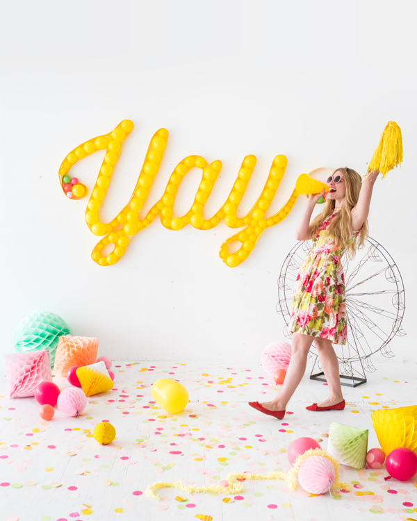 Balloon Marquee Backdrop | Oh Happy Day!