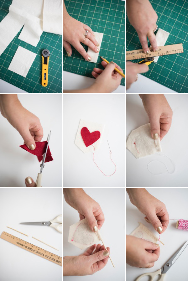 Mini Heart Banners DIY | Oh Happy Day!