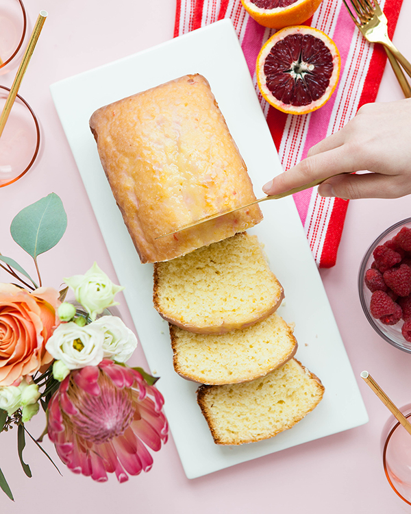 Blood Orange Glazed Pound Cake | Oh Happy Day!