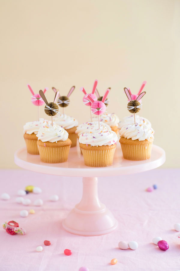 Honeycomb Bunny Cupcake Toppers | Oh Happy Day!