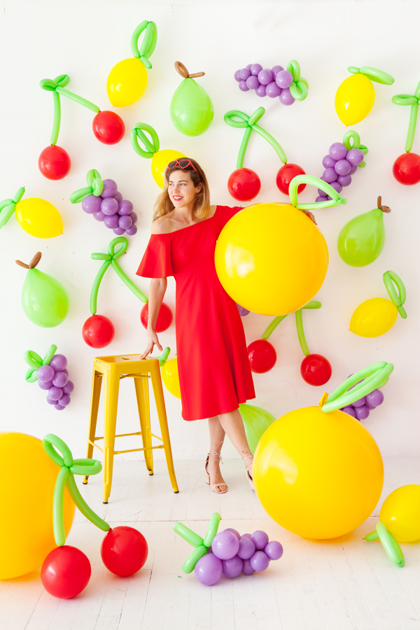 DIY Balloon Fruit balloons