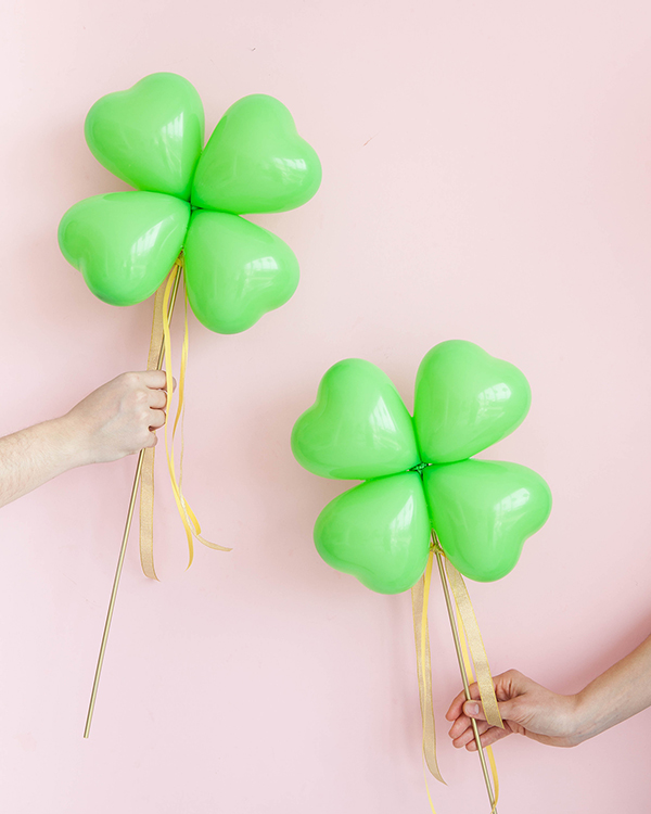 Clover Balloon Sticks DIY | Oh Happy Day!