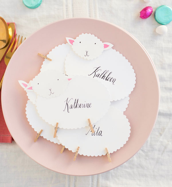 Easter Sheep Place Cards DIY | Oh Happy Day!