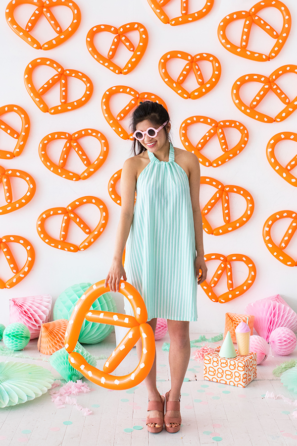 Pretzel Balloon Backdrop | Oh Happy Day!