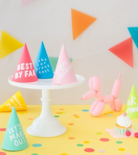 Handwritten Party Hats | Oh Happy Day!