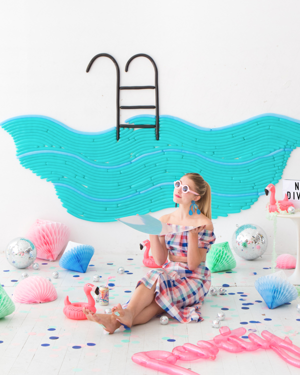 Pool Party Balloon Wall | Oh Happy Day!