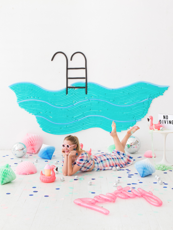 Pool Party Balloon Wall