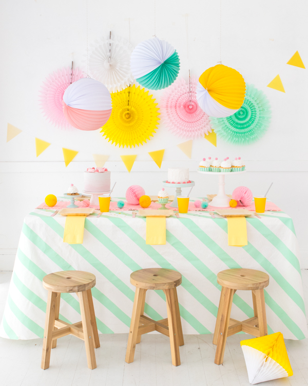 Striped Washi Tape Tablecloth | Oh Happy Day!