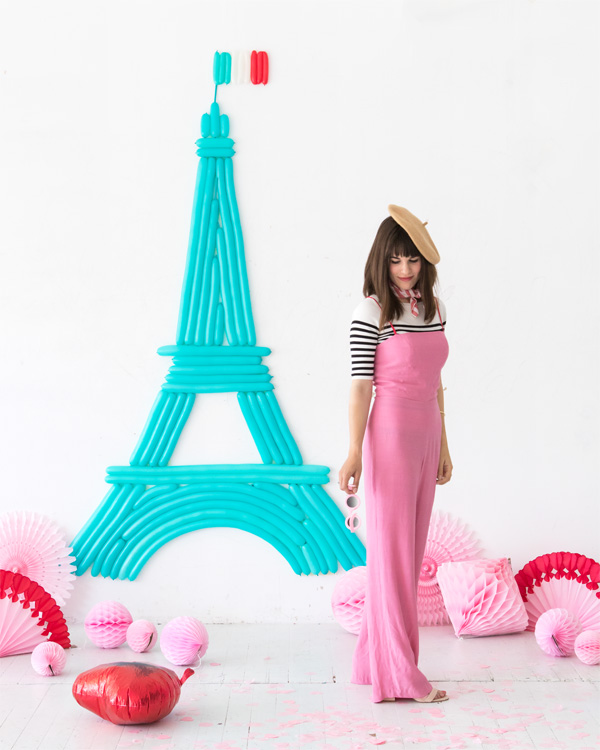 Eiffel Tower Balloon Wall | Oh Happy Day!