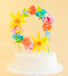Flower Wreath Cake Topper DIY