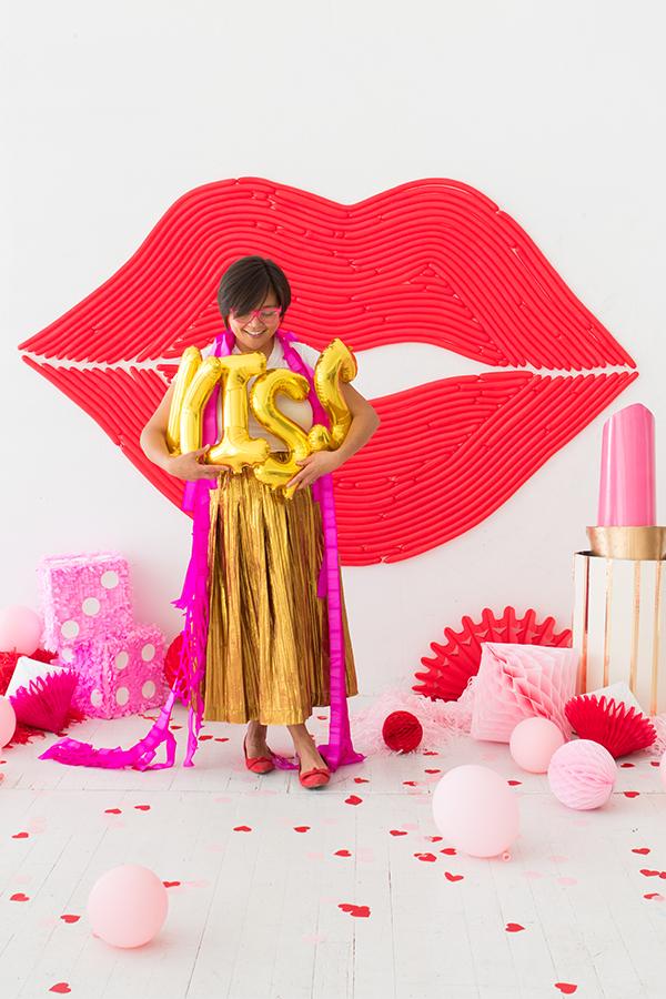 Lips Balloon Wall | Oh Happy Day!
