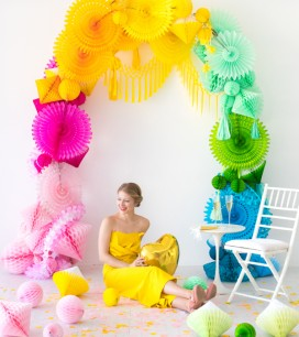 Rainbow Honeycomb Arch | Oh Happy Day!