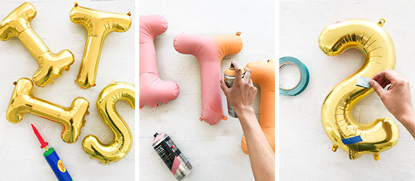Ombre Letter Balloons | Oh Happy Day!