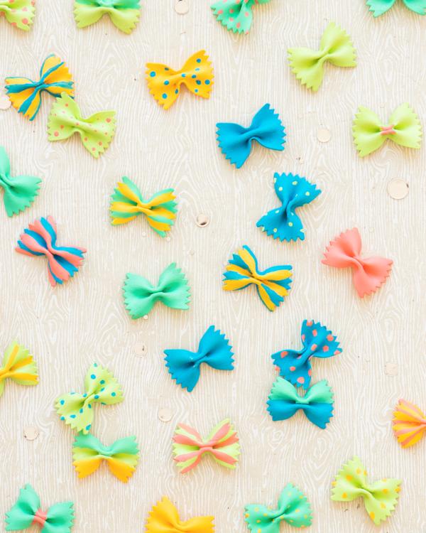 Színes farfalle lepkék - Kreatív, kézműves csodák- Nyár