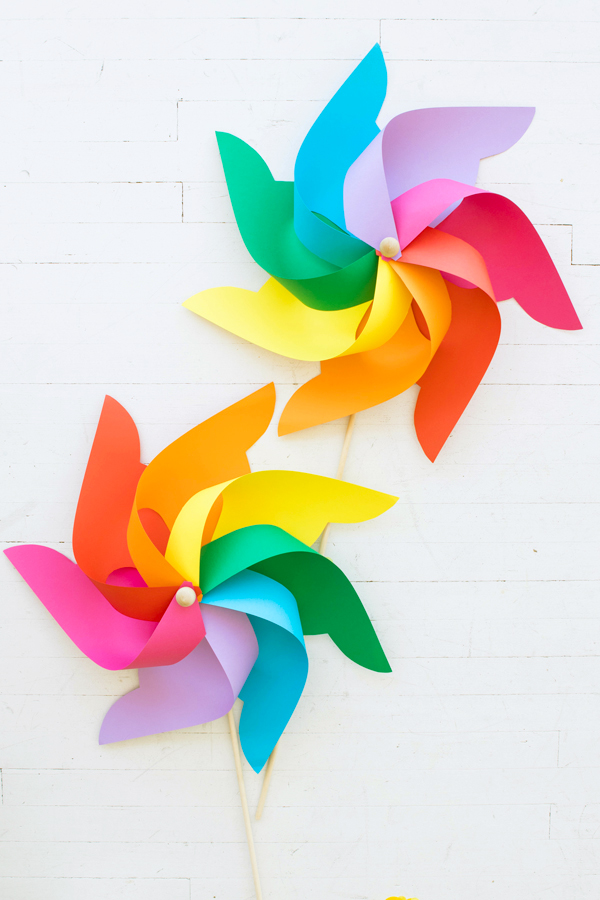 Giant Rainbow Pinwheels | Oh Happy Day!