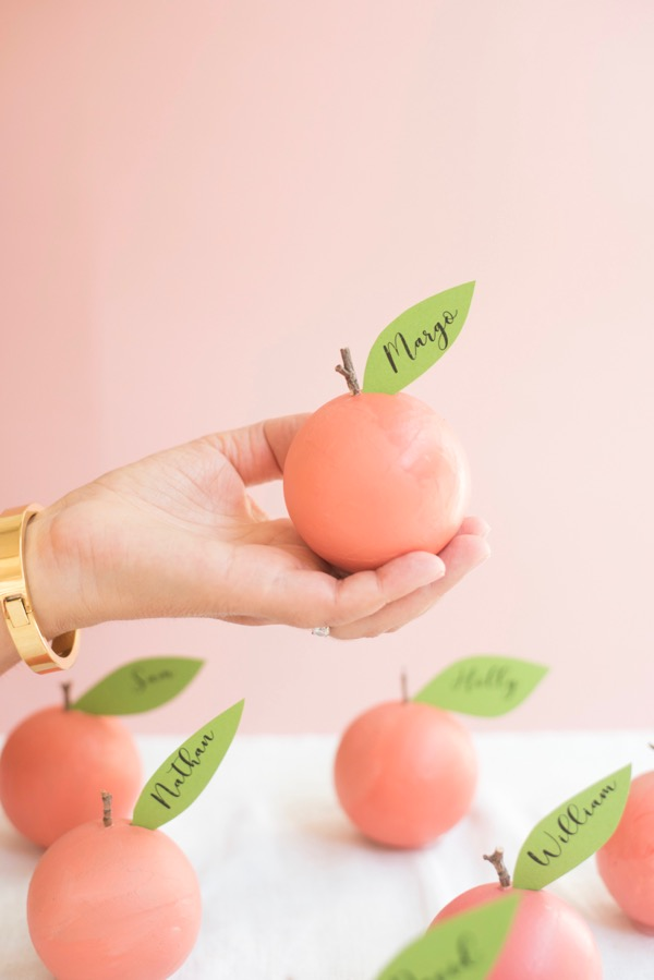 Peach Place Cards DIY | Oh Happy Day!