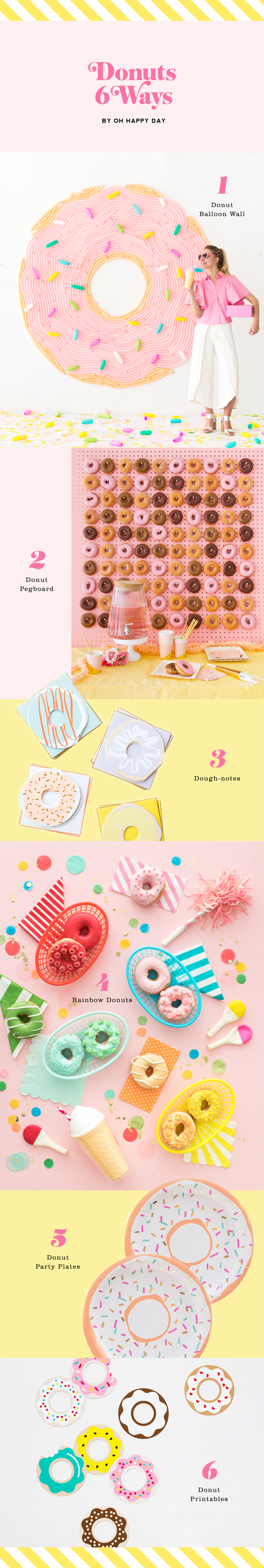 Donuts 6 Ways | Oh Happy Day!