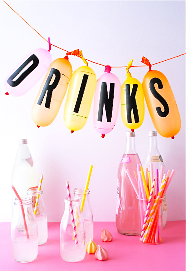 Three Ways: Sticker Letter Party Ideas
