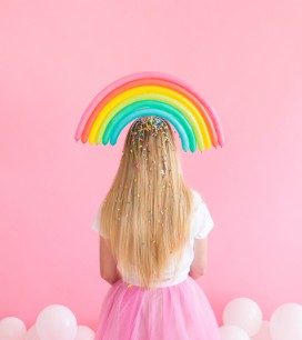 Rainbow Balloon Hats | Oh Happy Day!