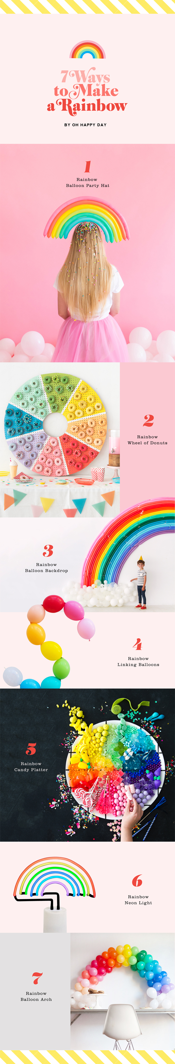 7 Ways to Make A Rainbow | Oh Happy Day!