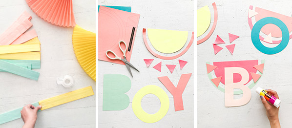 Letter Fan Garland DIY | Oh Happy Day!