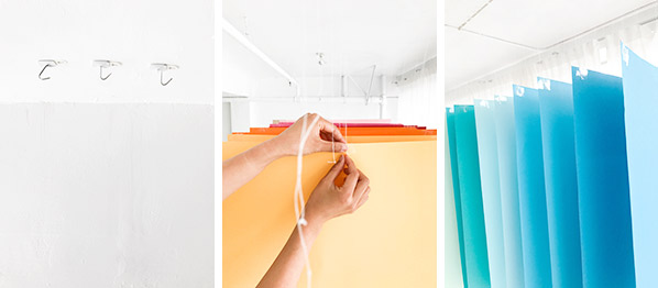 Hanging Paper Installation | Oh Happy Day!
