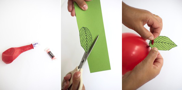 Back-to-School Apple Balloon DIY   Oh Happy Day!