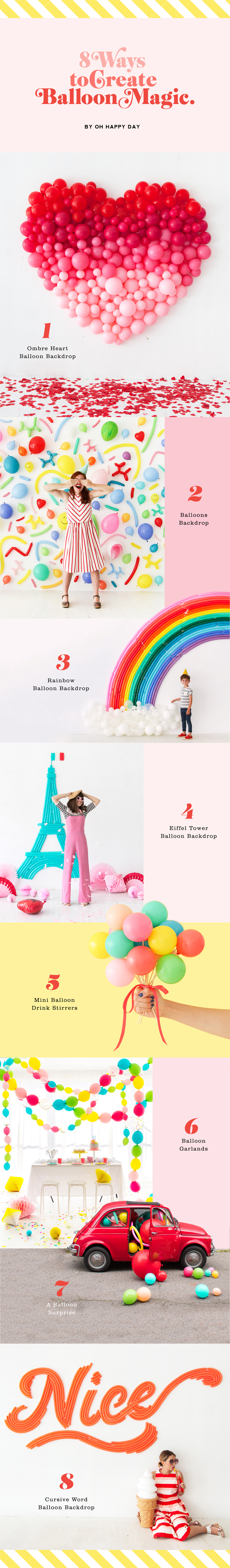 8 Ways to Create Balloon Magic | Oh Happy Day!