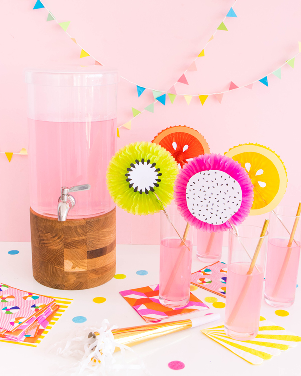 Fruit Fan Party Picks | Oh Happy Day!