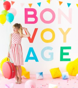 Giant Colorful Letter Banner | Oh Happy Day!