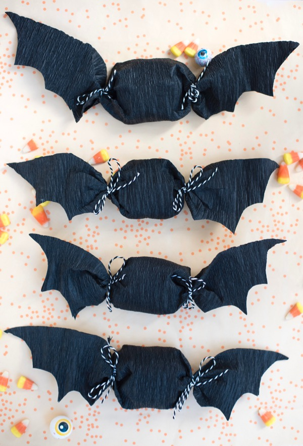 Crepe Paper Bat Favors DIY
