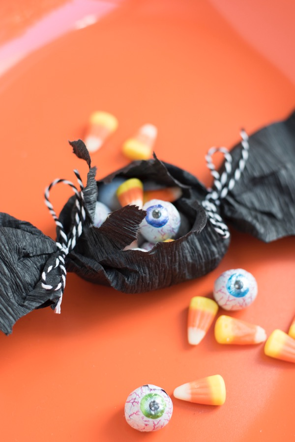 Crepe Paper Bat Favors DIY | Oh Happy Day!