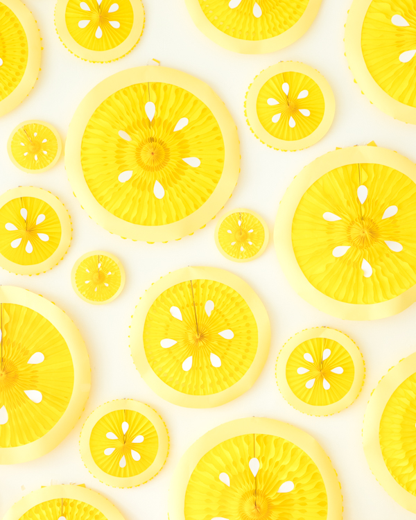 Lemon Party Fan Backdrop | Oh Happy Day!