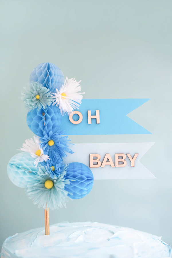Baby Cake Topper DIY | Oh Happy Day!
