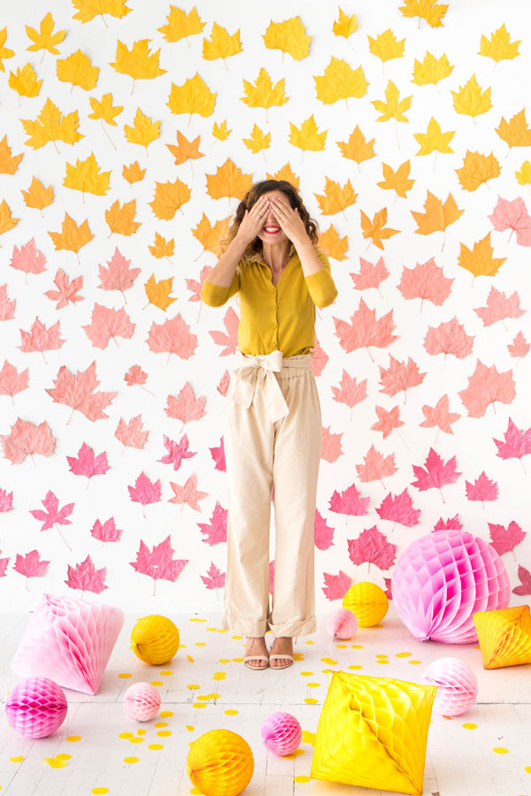 Ombre Leaf Backdrop | Oh Happy Day!