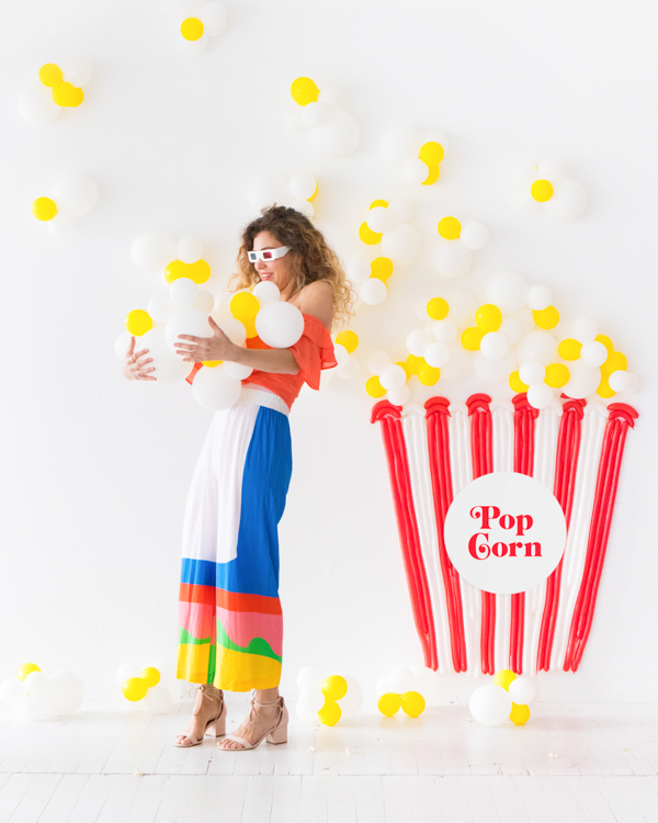 Popcorn Balloon Backdrop