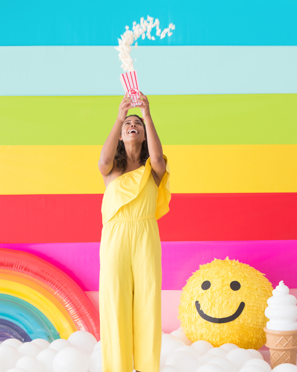 Striped Rainbow Backdrop | Oh Happy Day!
