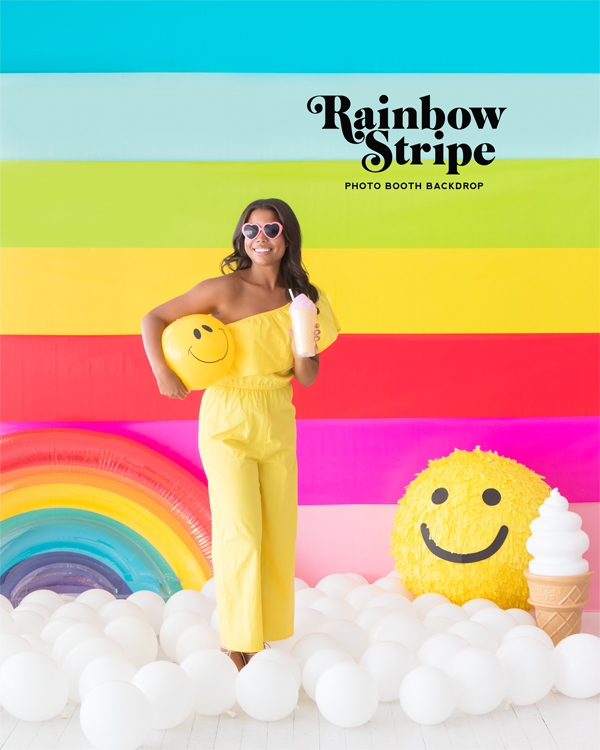 Rainbow Stripe Backdrop