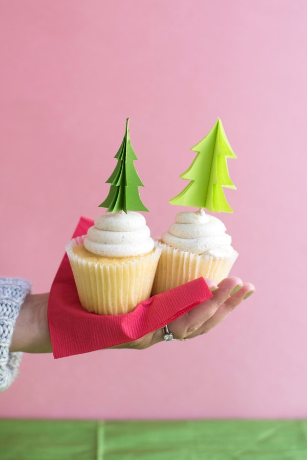 Evergreen Tree Cupcake Toppers