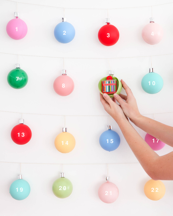 Christmas Ornament Advent Calendar | Oh Happy Day!