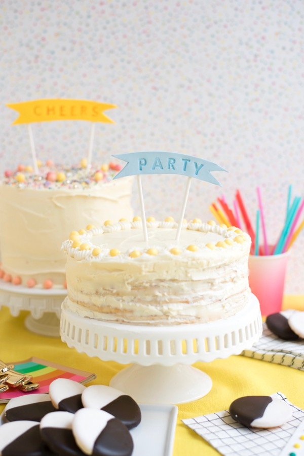 Mini Stamped Cake Toppers DIY | Oh Happy Day!
