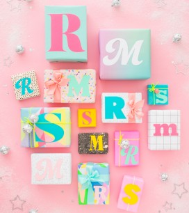 Typographic Gift Tags | Oh Happy Day!