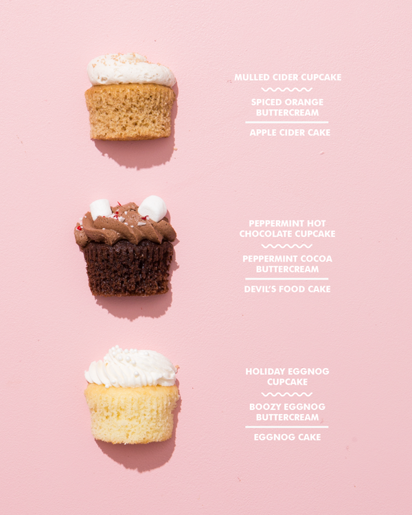 Piece of Cake: Holiday Drink Cupcakes | Oh Happy Day!