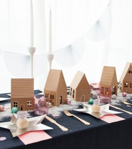 Gingerbread Village Centerpiece | Oh Happy Day!