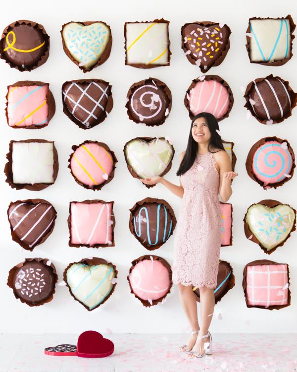 Chocolate Assortments Balloon Backdrop
